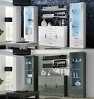 SOHO 3 LIVING ROOM FURNITURE SET WALL UNIT CABINET SIDEBOARD LED GLOSS FRONTS