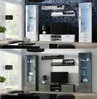 SOHO 4 FURNITURE SET TV STAND DISPLAY CABINET WALL SHELF LED GLOSSY FRONTS