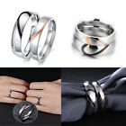 mens promise bands - Mens Womens Stainless Steel Rings Couple Promise Wedding Band Gift For Girl Boy