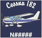 CUSTOM - Embroidered Cessna 182 Airplane Left Chest Design on Sport Shirt