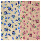 100% Cotton Fabric Metres Curtains Craft Patchwork Sewing Vintage Cottage Roses