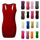 Womens Casual Top Dress Ladies Sleeveless Racer Back Bodycon