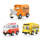 1:36 Mini Alloy Diecast Model Car With Light & Play Music Pull-Back Car Gift Toy