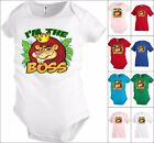 I'm the boss Lion animal Funny Kids T shirt Youth tee Baby Toddler bodysuit K18