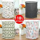 Laundry Basket Storage Barrel Clothes Cartoon Cotton Linen Dirty Clothes Bucket
