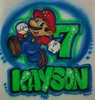 Custom Airbrushed Super Mario Osyssey with Name (Sizes 6 months - Adult 5XL)