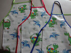 DINOSAUR  PVC WATERPROOF APRONS ADULTS AND CHILDRENS WIPE CLEAN IN 3 SIZES