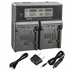 CGA-DU07 Battery or LCD Dual Charger for Panasonic VDR-D200 D210 D220 D230 D250