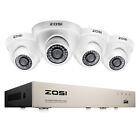 ZOSI 4CH 8CH 1080P Hybrid DVR 2MP Outdoor Dome Day Night Security Camera System