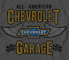 GM / Chevrolet All American Garage GRAY  Adult T-Shirt