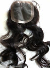 Full Lace Closure Human Indian Remy Remi Topper Hair Partial Wig Color 1B Black