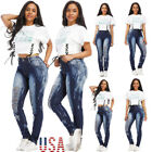 Sexy Women Fashion High Waisted Jeans Soft Skinny Stretchy P