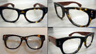 Handmade glasses thick natural wood arms vintage style Japan made 7113 Oversized