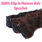 Qingsi Hair-5pcs/lot For Full Head Curly10A Remy Clip In Human Hair Extensions