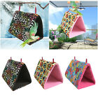 Bird Parrot Cotton Hammock Cage Snuggle Happy Hut Tent Bed Bunk Toy Hanging Cave