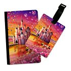 PRETTY CASTLE DISNEY INSPIRED FLIP PASSPORT AND LUGGAGE TAG HOLDER TRAVEL COVER