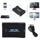 1080p Scart to HDMI Audio Video Converter Scaler Adapter for HDTV PS2 VHS DVD