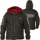 YAKUZA Jacke Eight Hooded Quilted JB-11025 Black Schwarz Jacken
