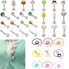 Cute Cartoon Animal/Fruit Pattern Clip-on Hanging Brooch Chain Nurse Clip Watch
