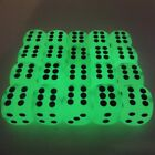 Glow In The Dark Number Dice 14mm D6 Single Set Dotted Spot Board Game Table Top