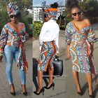 Towani Ladies Ankara African Print African Fabric Kitenge Fabric Wrap Top S to L