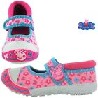 GIRLS OFFICIAL PEPPA PIG PINK FLORAL CASUAL PUMPS SHOES TRAINERS UK SIZE 4-10