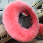 "Car Steering Wheel Cover Wool Warm Plush Winter for 14.96"" X 14.96"""