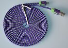 Flat Braided Fast Speed Charger Cable Power for MICRO USB Samsung LG HTC Nokia
