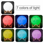 Innovative 3D Moon LED Lamp Night Light Moonlight Table Desk 7 Color Switching