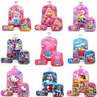 Luggage Suitcase Kids Travel 3D Trolley Cabin 17 Inch 3 Set Hard 6 Wheels