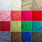 100% Cotton Linen Washed Breathable Fabric Dress Material  19 Colours 145cm Wide