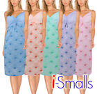 i-Smalls Ladies Nightdress V Neck Floral Sleeveless Cotton Nightwear
