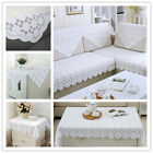 White Embroidery Lace Tablecloth Floral Table Cloth Rectangle/Square Sofa Doily