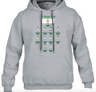 PERSONALISED FOOTBALL SUBBUTEO STYLE HOODIE Choose your own playersteam