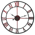 Iron Large Europe Wall Clock Modern Design Metal Decor Vintage Roman Watch 16""