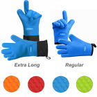 PASBUY� Silicone Extra-Long Quilted Cotton Lining Gloves for Grilling BBQ