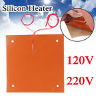 Silicone Heater Pad 310x310mm For Creality CR-10 3D Printer Bed w/ Screw Holes