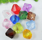 HOT ! 6mm,8mm Acrylic Crystal #Bicone Spacer Beads