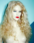 Light Blonde #60 Remi Remy Human Hair Full Lace Wig Wigs Long Wavy Body Wave