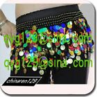 sale! HAND MADE BELLY DANCE HIP SCARF GOLD COINS  999
