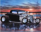 1934 Ford 3 Window Coupe Hiboy Streetrod Art Print w/ Color Options