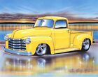 1952 Chevy 3100 Pickup Hot Rod Truck Art Print w/ Color Options