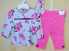 LITTLE ME 100% Cotton PINK FLORAL Tunic Set w/Legging & Headband NWT