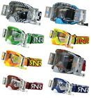 Rip N Roll RNR Platinum  MX Roll Off Goggles Wide Vision System WVS 48mm