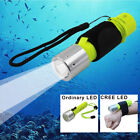 White LED Diving Flashlight Torches CREE T6 Lamp Flashlight with Wrist Strap