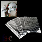150/600 Small Self-Adhesive Mirror Mosaic Tiles Mirror Tiling Home DIY Decor UK