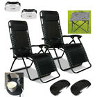 Textoline Zero Gravity Recliner Garden Chair Sun Lounger Table Cup Holder Tray