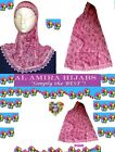 NEW AL AMIRA CHILDRENS GIRLS ONE PIECE PATTERNED HEAD SCARF HIJAB ISLAMIC MUSLIM