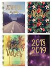 2018-2019 A5 Week to View Spiral Bound Hardback Academic Student Teacher Diary