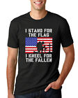 I Stand For The Flag, I Kneel For The Fallen Mens American Pride T-Shirt USA Tee image